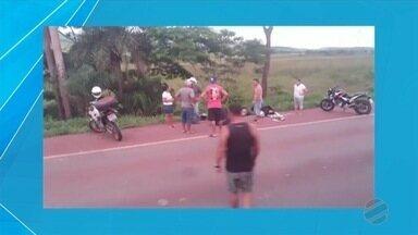 Casal fica ferido após acidente em rodovia de MS - Acidente foi na BR-262 entre duas motocicletas.