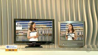 Sinal analógico de TV é desligado em 11 cidades da Região Sul nesta quarta-feira (28) - A mudança acontece para a entrada do sinal digital, que tem melhor qualidade de som e imagem.