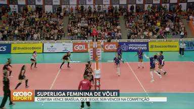 Brasília Vôlei perde mais uma na Superliga Feminina - Equipe candanga é superada pelo Curitiba, na capital paranaense. É a quarta derrota do Brasília em quatro jogos.