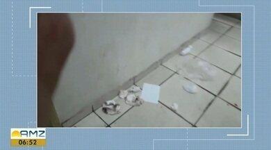 Pacientes do Hospital de Emergência de Santana reclamam da falta de limpeza - Denúncia foi feita pelas redes sociais, sendo possível observar o acúmulo de lixo em vários locais de dentro do hospital.