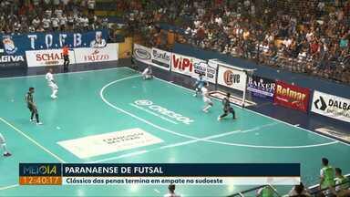 Clássico das penas termina em empate no sudoeste - O jogo foi ontem à noite, em Francisco Beltrão.