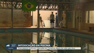Duas pessoas continuam internadas em Campinas após inalarem cloro - Nove pessoas passaram mal depois de inalar o gás, que é altamente tóxico, na área de natação de uma academia. Uma delas morreu.