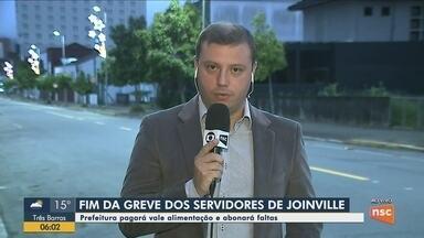 Servidores entram em acordo com a prefeitura e encerram greve em Joinville - Servidores entram em acordo com a prefeitura e encerram greve em Joinville