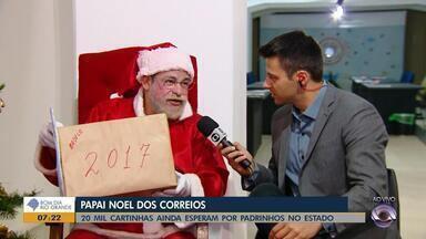 Cerca de 20 mil cartinhas de Papai Noel ainda esperam por padrinhos no RS - Assista ao vídeo.