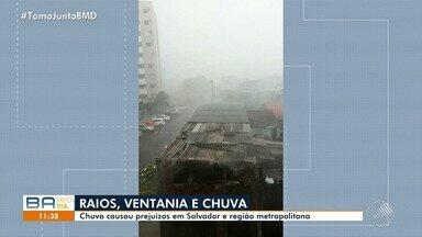 Mau tempo: chuva forte causa estragos em Salvador e região metropolitana - Veja os estragos causados pelo temporal.