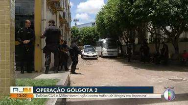Polícias Civil e Militar fazem ação contra tráfico de drogas em Itaperuna, no RJ - Assista a seguir.