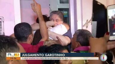 Justiça analisa recursos do ex-governador do Rio, Anthony Garotinho - Assista a seguir.