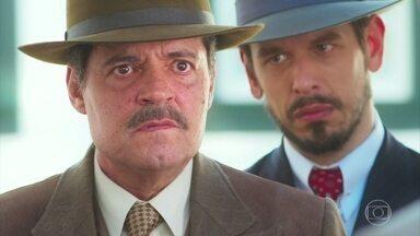 Gustavo tranquiliza Eugênio e ajuda Julia e Danilo - O coronel manda Danilo se afastar de Julia e não procurá=la mais