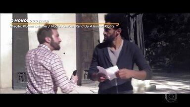 Bial exibe cena do filme 'O Monólogo' - Convidados passam suas mensagens finais