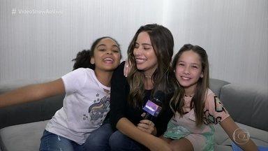 Vídeo Show testa a amizade de Clara Galinari e Maria Luiza Galhano - E não é que as meninas são praticamente BFF?
