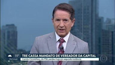 TRE cassa mandato de vereador da capital - Camilo Christófaro, do PSB, é acusado de captação ilícita de recursos financeiros na campanha.