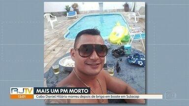 PM morre depois de briga em saída de boate na Zona Oeste - Cabo Daniel Hilário levou 3 tiros em posto de gasolina em Sulacap. Ele é o 90º PM assassinado no Rio este ano.