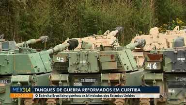 Tanques doados pelos EUA são trazidos para Curitiba para reformas - Quando novas, unidades valem cerca de R$ 10 milhões cada