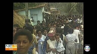 Veja como foi a festa em homenagem a Nossa Senhora da Conceição há 30 anos - Fé dos devotos segue lotando o Morro da Conceição ao longo das décadas.