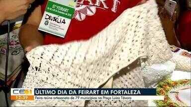Último dia da Feirart em Fortaleza - Feira reúne artesanato de 79 municípios na Praça Luíza Távora