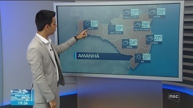 Veja como ficará o tempo em todas as regiões de SC neste domingo (9) - Veja como ficará o tempo em todas as regiões de SC neste domingo (9)