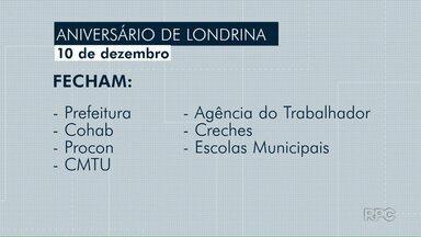 Confira o que abre e fecha nesta segunda-feira (10) em Londrina - No aniversário do município o comércio no centro da cidade vai funcionar até às 18h.