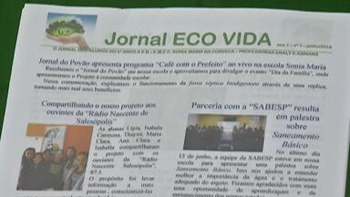 Estudantes de Salesópolis são finalistas de prêmio nacional por projeto de Meio Ambiente - Eles desenvolveram um projeto para ajudar moradores da zona rural a proteger o meio ambiente.
