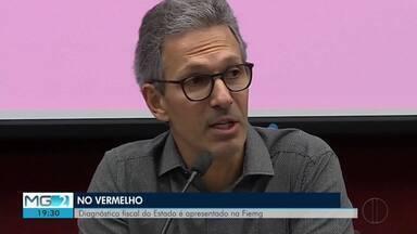 Zema (Novo) diz que estado vai aderir ao programa de Recuperação Fiscal da União - Anúncio foi feito depois da divulgação de um relatório que mostra a situação fiscal do estado.