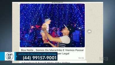 Moradores participam do Boa Noite Paraná - Mande sua participação pelo whats (44) 9 9157-9001.