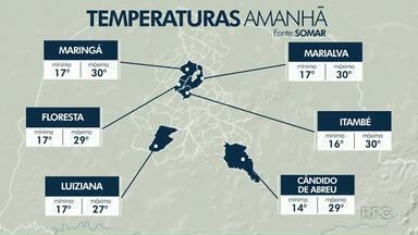 Domingo será ensolarado em Maringá e região - A semana vai começar quente em Maringá e Campo Mourão.