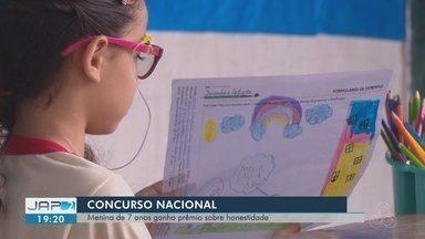 Amapaense de 7 anos conquista a medalha de bronze em concurso nacional de desenhos - Concurso pediu que estudantes fizessem um desenho que demonstrava honestidade.