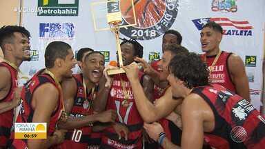 Vitória conquista bicampeonato de basquete - Veja os destaques da partida.