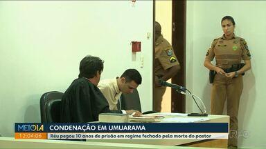 Mateus Miante foi condenado a 10 anos de prisão pela morte do pastor Augusto Riss - O julgamento durou toda segunda-feira no Fórum de Umuarama.