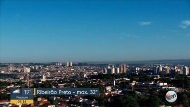 Confira a previsão do tempo para esta quarta-feira (12) em Ribeirão Preto - Temperatura máxima chega a 32ºC.