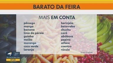 Confira frutas, legumes e verduras mais baratos nas feiras livres em Ribeirão Preto - Pêssego, manga, banana, brócolis, rúcula, coentro, alface e milho verde estão mais em conta.