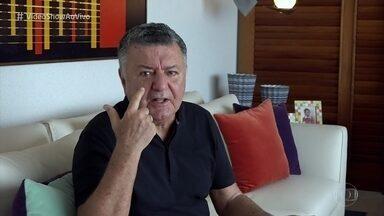 Arnaldo César Coelho aconselha não misturar amizade com trabalho - Árbitro responde a questões do público e diz que 'A Regra é Clara'