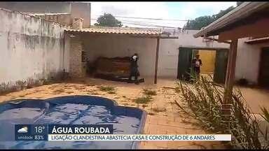 Caesb encontrou mais uma ligação clandestina de água, desta vez, em Vicente Pires - A chácara já tinha sido interditada pela Agefis no mês passado, por conta de irregularidades em uma construção de seis pavimentos no terreno