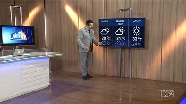 Confira a previsão do tempo no Maranhão - Segundo a meteorologia, a sexta-feira (14) em São Luís será de tempo nublado com mínima de 23 graus e máxima de 30.