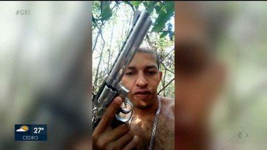 Polícia divulga vídeo em que homem faz ameaças aao presidente eleito, Jair Bolsonaro - O homem foi preso em flagrante por tráfico de drogas e porte ilegal de arma.
