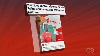 Vila Nova contrata lateral-direito Felipe Rodrigues, que estava no Guarani - Jogador de 23 anos chega a pedido do técnico Umberto Louzer