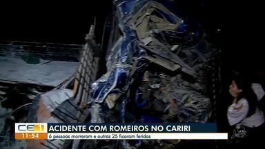 Acidente com romeiros deixa seis mortos em Campos Sales - Confira outras notícias no g1.globo/ce