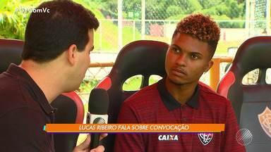 Lucas Ribeiro é convocado para a seleção brasileira sub-20 - O zagueiro do Vitória falou sobre a convocação; confira.