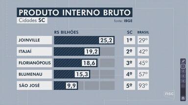 SC tem 3 entre os 50 maiores PIBs municipais do Brasil, diz IBGE - SC tem 3 entre os 50 maiores PIBs municipais do Brasil, diz IBGE