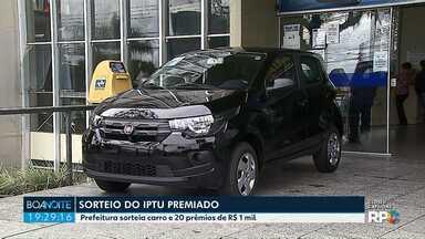 Prefeitura sorteia carro e 20 prêmios de R$ 1 mil para contribuintes com as contas em dia - O sorteio foi na tarde desta sexta-feira (14).