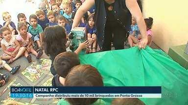 Campanha distribuiu mais de 10 mil brinquedos em Ponta Grossa - Natal RPC encerrou a distribuição de brinquedos nesta sexta (14).