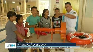 Capitania Fluvial promove mais uma etapa da campanha 'Cada marinheiro tem uma história' - Campanha faz parte das programações pelo Dia dos Marinheiros e objetiva reforçar o combate ao escalpelamento na região.