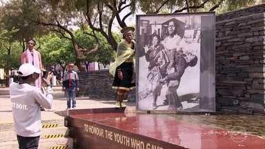 No centenário de Mandela, Globo Repórter mostra as cores e os ritmos de Joanesburgo - A dança faz parte da identidade do povo sul-africano. É paixão, estilo de vida e cultura. A pantsula é símbolo de união e resistência.