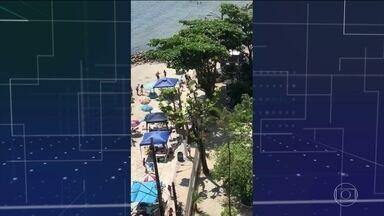 Banhista é baleada por assaltante no litoral de São Paulo - O suspeito disparou várias vezes contra banhistas em São Vicente e acabou morto por PMs.