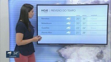 Confira a previsão do tempo para esta segunda-feira (17) na região de Ribeirão Preto Há p - Há possibilidade de pancadas de chuva isoladas.