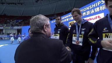 Brasil encerra Mundial de Piscina Curta na China com oito medalhas - Brasil encerra Mundial de Piscina Curta na China com oito medalhas