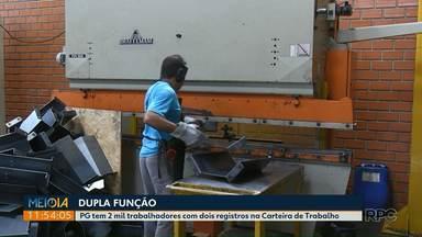 Dois mil moradores de Ponta Grossa tem dois registros em Carteira de Trabalho - Segundo emprego formal, tem sido opção para complementar a renda.