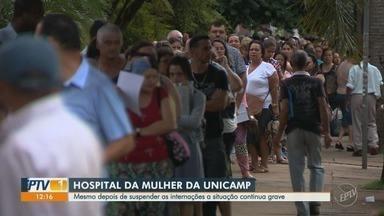 Hospital da Mulher da Unicamp suspende internações de novas grávidas e recém nascidos - Mesmo depois de suspender as internações, a situação do Caism continua grave.