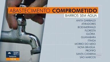 Alguns bairros devem ficar sem água nesta sexta em Joinville - Alguns bairros devem ficar sem água nesta sexta em Joinville.