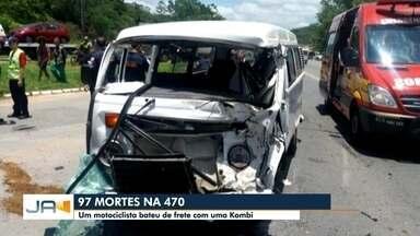 Homem de 35 anos morre em acidente na BR-470 em Blumenau - Homem de 35 anos morre em acidente na BR-470 em Blumenau