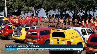 Começou hoje a Operação Verão em todo o Estado - No Noroeste bombeiros e guarda-vidas se apresentaram hoje em Porto Rico.